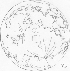 moon striations